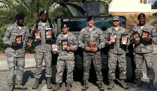 39th Security Forces Squadron Enjoying Beef Jerky